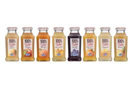 Succhi 100% Frutta e 100% Veggie in bottiglie di vetro