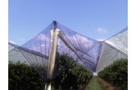 Double coverage systems for orchards