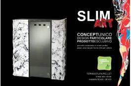 Termostufa pellet compatta di design SLIM ART