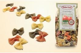 Farfalle di semola tricolore