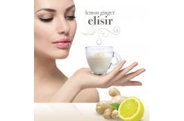 Nuova Bevanda da erogatore, a base di tè al latte, con limone, zenzero e collagene: Lemon Ginger Elisir