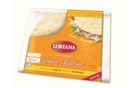 Piadina Loriana senza glutine confezionata formato 3 pezzi