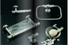 Accessories bathroom furniture with Swarovski crystals - Linea Hollywood