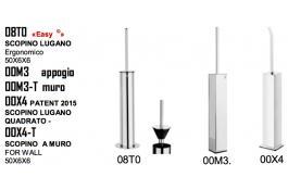 Scopini da bagno quadrati ed ergonomici Mod. Lugano
