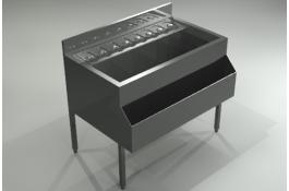 Cocktail station in acciaio inox