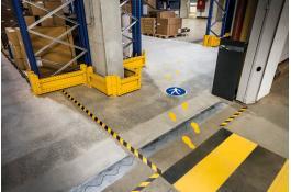 Segnaletica da pavimento per aree logistica e magazzino