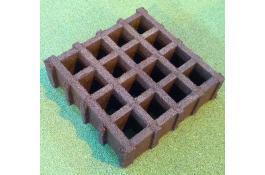 ECOGRID, manufatto in gomma riciclata, in forma quadrata per esterno