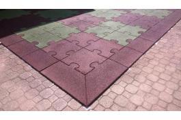 Pavimentazioni Ecopuzzle piastre antitrauma in gomma riciclata