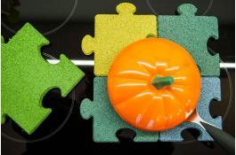 Piastra antishock in granuli di gomma da arredo Mini Puzzle