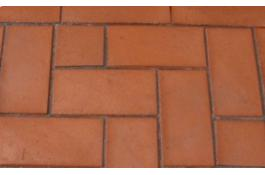 Polymeric sand joint for terracotta pavers