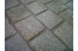 Polymer sand joint for stone pavers