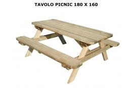 180x160 picnic table