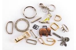 Accessori in zama per pelletteria e abbigliamento