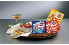 Salamini confezionati in vaschetta