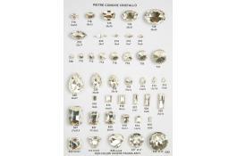 Pietre in cristallo coniche