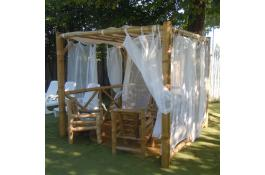 Gazebo in bamboo etnico