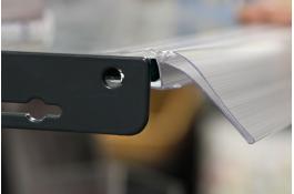 Profili portaprezzi per ripiani in vetro