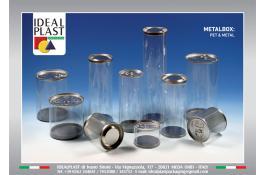 Cilindro in pet con chiusura in metallo Metalbox