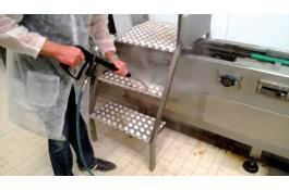Steam generator for sanitizing in food industries vaporDUO
