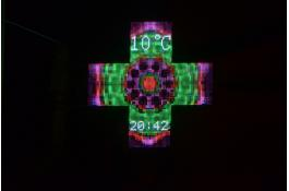 Croce led farmacia Full HD 120 RGB Oval Type