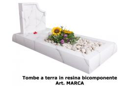 Tombe a terra in resina bicomponente