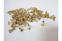Brass rivets for footwear