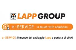 Servizi e strumenti online per assistenza cablaggi Lapp Italia e-Service