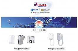 Asciugamani e asciugacapelli elettrici per ambienti pubblici Linea Igiene