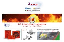 Pressurizzatori per locali filtri fumo SVP