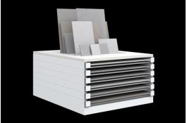 Horizontal display units for tiles Free Frame