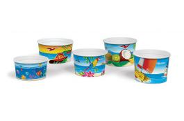 Adventure print ice cream cups