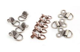 Hooks and eyelets for trekking shoes