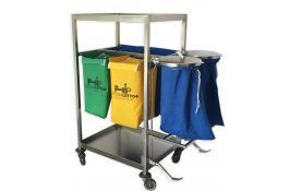Carrelli per biancheria ospedaliera sporca e pulita