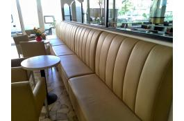 Upholstered benches for restaurants and halls