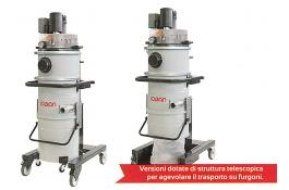 Industrial vacuums cleaners for dust and liquids