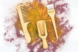 Accessori in legno per colorazione capelli