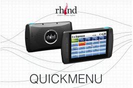 Palmare touch per ristoranti e locali QuickMenu