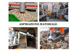 Всасывание материалов: щебень, мусор и грунт