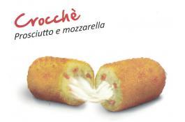 Crocchè prosciutto e mozzarella