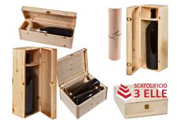 Cassette in legno per confezionamento bottiglie