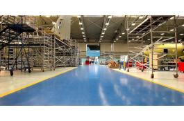 Industrial floors resin solvent-free
