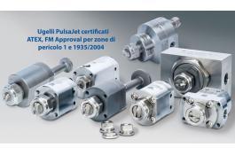 Ugelli di spruzzatura certificati ATEX, FM Approval e 1935/2004 PulsaJet®