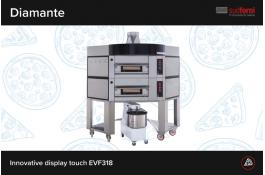 Forno elettrico professionale con display touch DIAMANTE
