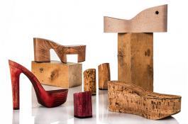 Tacchi, plateau e zeppe in legno per scarpe