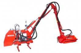 Brushcutters with hydraulic arm
