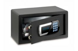 Digital safes with key lock for hotels