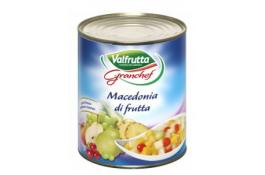 Macedonia di frutta sciroppata confezionata