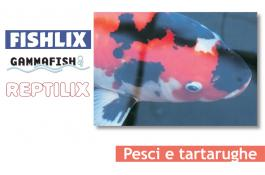 Alimenti per pesci e tartarughe Fishlix, Gammafish e Reptilix