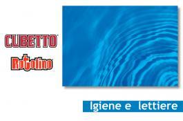 Lettiere e fondi gabbia per igiene animali Cubetto e Rotolino