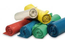 Sacchi rifiuti in LDPE riciclato